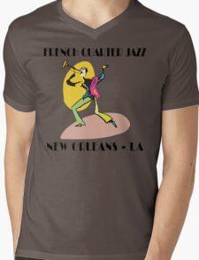 Mardi Gras French Quarter Jazz Mens V-Neck T-Shirt