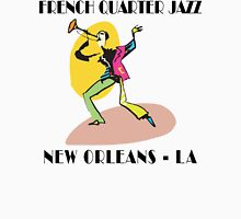 Mardi Gras French Quarter Jazz Womens Fitted T-Shirt