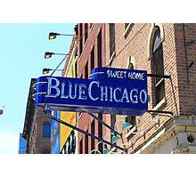Blue Chicago Club Photographic Print