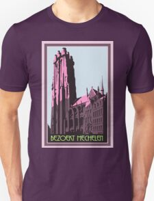 Mechelen retro vintage travel advert Flemish Dutch version T-Shirt