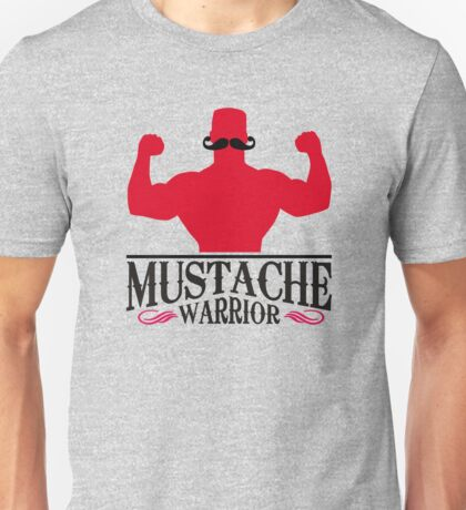 Mustache Warrior Unisex T-Shirt