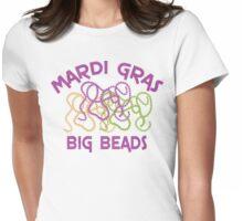 Mardi Gras Big Beads Womens Fitted T-Shirt