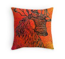 Sunset Rooster Throw Pillow