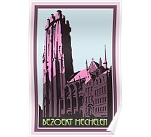Mechelen retro vintage travel advert Flemish Dutch version Poster