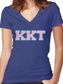 Kappa Kappa Tau Women's Fitted V-Neck T-Shirt