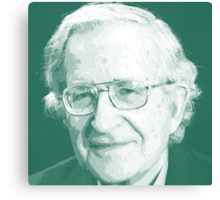 celebrities noam chomsky 2 Canvas Print