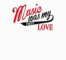 Music was my first love Men's Baseball ¾ T-Shirt