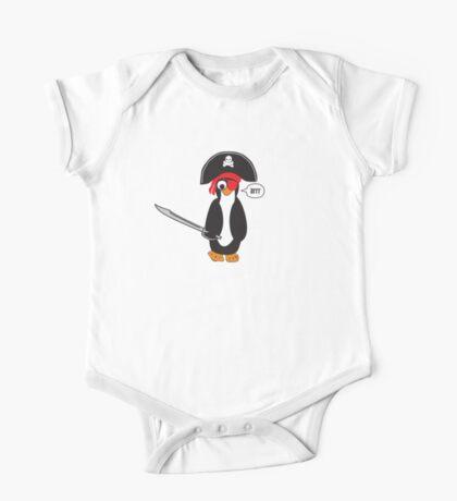 pirate penguin One Piece - Short Sleeve