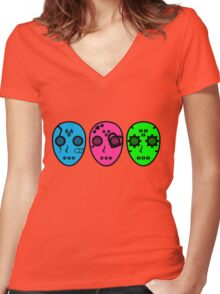 Clan J-Chan (ジェイちゃん) Women's Fitted V-Neck T-Shirt