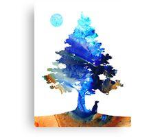Contemplation - Dog Art Painting Canvas Print