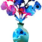 Fresh Cut - Vibrant Flowers Floral Painting by Sharon Cummings