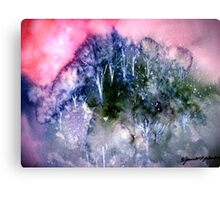 Snow In The Hills.. Canvas Print