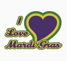I Love Mardi Gras Kids Tee