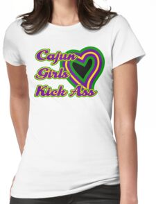 Cajun Girls Kick Ass Womens Fitted T-Shirt