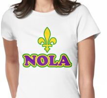 NOLA New Orleans Louisiana Womens Fitted T-Shirt
