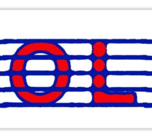 Violin Red White & Blue Sticker