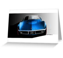 Corvette Stingray 1969 Greeting Card