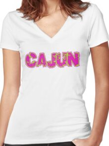 Cajun Women's Fitted V-Neck T-Shirt