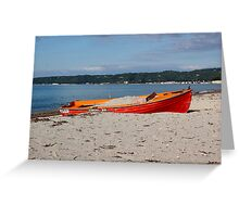 Just a red boat Greeting Card