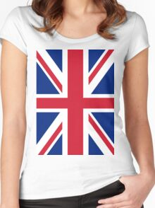 Union Jack Flag Women's Fitted Scoop T-Shirt