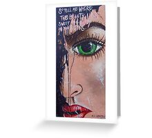 Tell Me Where The Beauty Lies Pop Art Street Art Fairground Art Greeting Card