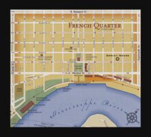 French Quarter Map by HolidayT-Shirts