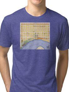 French Quarter Map Tri-blend T-Shirt