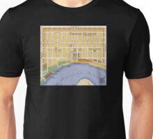 French Quarter Map Unisex T-Shirt