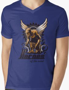 Heroes of the road Mens V-Neck T-Shirt