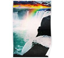 colorful falls art Poster
