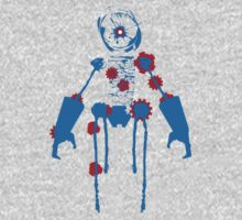 Ink Blot Ro-Bot (Blue Recolor) One Piece - Long Sleeve