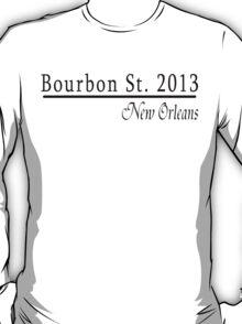 Mardi Gras Bourbon Street 2013 T-Shirt