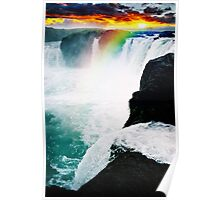 colorful falls Poster