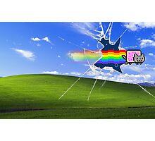 Windows Background/Nyan Cat Photographic Print