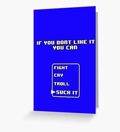 My Personal Slogan Greeting Card