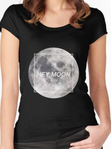 Hey Moon (White on Dark) - Northern Downpour - Pretty. Odd. - Panic! at the Disco Women's Fitted Scoop T-Shirt