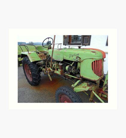 Tractor-Historic Art Print