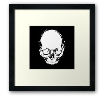 WHITE SKULL Framed Print