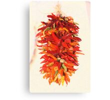 Chili Peppers Ristra Decoration Canvas Print