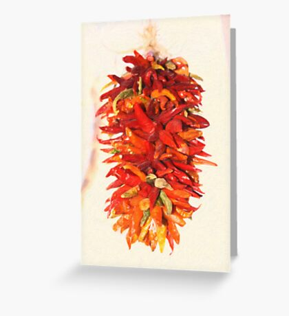 Chili Peppers Ristra Decoration Greeting Card