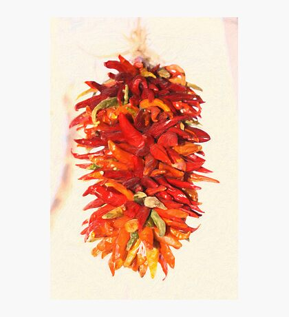 Chili Peppers Ristra Decoration Photographic Print