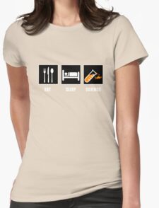 Eat Sleep Science Womens Fitted T-Shirt