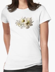 White Daisies in Sunshine Womens Fitted T-Shirt