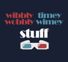 wibbly wobbly timey wimey stuff in 3D T-Shirt