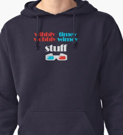 wibbly wobbly timey wimey stuff in 3D Pullover Hoodie