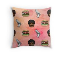 Pulp Fiction Big Kahuna Burger Pattern Throw Pillow