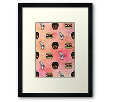 Pulp Fiction Big Kahuna Burger Pattern Framed Print