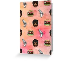 Pulp Fiction Big Kahuna Burger Pattern Greeting Card