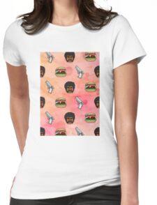 Pulp Fiction Big Kahuna Burger Pattern Womens Fitted T-Shirt