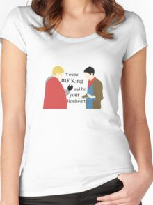 King and Lionheart Women's Fitted Scoop T-Shirt